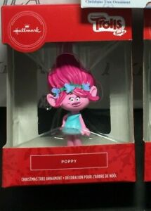 "Hallmark Christmas Tree Ornaments  ""Poppy"" from  Dreamworks' Trolls Holiday"
