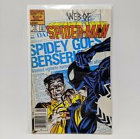Web of Spider-Man #13 Newsstand Edition ~ (1986 Marvel Comics) Black Suit Spidey