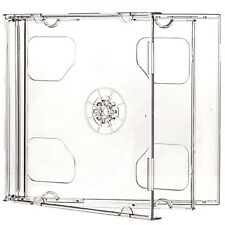 CD Double Jewel Cases 10.4mm for 2 Disc with Clear Tray (Pack of 100) Branded...