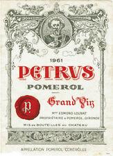 Étiquettes bordeaux pour vins et gastronomie Années 1960 de France