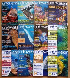 12x Unterwasser 2013 Jahrgang Zeitschrift Sport Meere Tiere Urlaub Tauchen