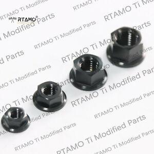 RTAMO | M5 M6 M8 M10 M12 M14 M16 M18 Gr5 Titanium Hex Flange Nuts Single Piece