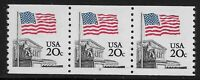 US Scott #1895, Plate #9 Coil 1981 Flag 20c VF MNH