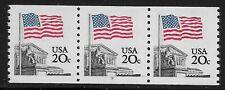 US Scott #1895, Plate #9 Coil 1981 Flag 20c VF MNH