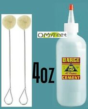 4 oz Barge ORIGINAL Contact Cement Glue with 2 Daubers 1 Cap 1 quality Bottle