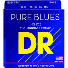 DR Strings PB-45 Pure Blues Quantum-Nickel on Round Core Bass Strings 45-105