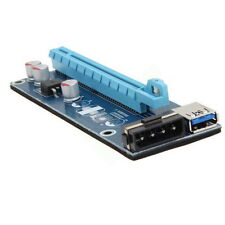 PCI-E 1x to 16x Powered USB 3.0 Extender Riser Adapter Card Bitcoin Litecoin