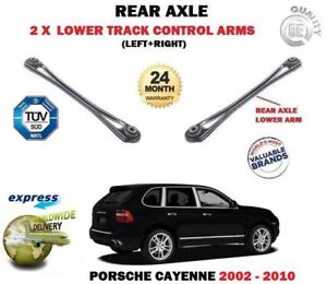 FOR PORSCHE CAYENNE 2002-2010 NEW 2 X REAR AXLE LOWER TRACK CONTROL ARMS SET