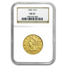 1852 $10 Liberty Gold Eagle AU-53 NGC