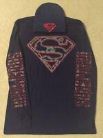 SUPERMAN Justice LEAGUE movie BOOK Batman MEN'S Long Sleeve T-Shirt & HAT cap