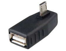 Right Angle Micro 5pin USB Male To USB 2.O Female Adapter Connector Converter
