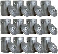 Set of 12 Silver Trash Cans for WWE Wrestling Action Figures