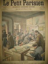 MINES DE COURRIERES SECOURS AUX FAMILLES LEGION D'HONNEUR LE PETIT PARISIEN 1906