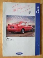 FORD CARS 1992/05 UK Market prestige brochure - Fiesta XR2i, Escort XR3i Granada