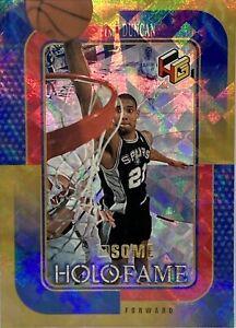 1999-00 Upper Deck HoloGrFx Holofame Ausome Gold Tim Duncan  #HF-5 AU Rare!