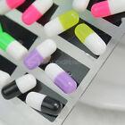 Lotto 24 Orecchini Perno Capsule Pillole Colori Diversi Donna Uomo Unisex Moda