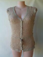 Postie Fashions NEW size 20 beige knit top NWT sleeveless