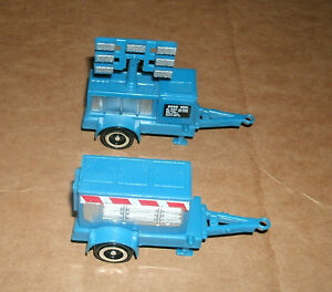Two 1/64 Scale Work Site Trailer Plastic Models Power Generator Lighting Cart