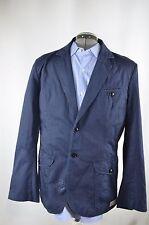 NWT G-Star TR Blazer Size 50 Herringbone Dyed Indigo Navy Blue