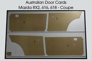 Mazda RX2 616 618 Coupe Door Cards 4 Blank Trim Panels. RX-2 Capella Rotary