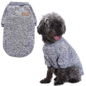 Pet Puppy Sweater Dog Clothes Soft Thickening Warm Cat Shirt Coat Knitwear