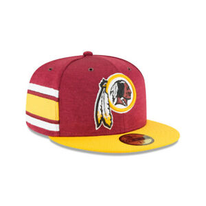 Washington Redskins NFL On-Field New Era 59FIFTY Fitted Hat - Maroon/Gold