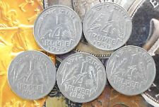 5 pcs YEAR SET - 1950 1951 1954 1955 1956 - Nickel 1/4 Rupee