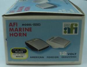 AFI 10027 Stream Line Horn White Base Chrome Top Vintage 19187