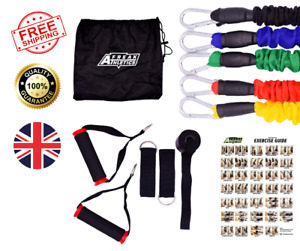 Resistance Bands Set With Handles - 11pcs Set Free Exercise Guide