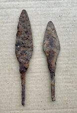 Iron arrowheads, 2 pieces, 100% authentic, medieval. Found in the ground.