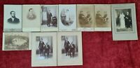 COLLECTION OF 10 FAMILY PHOTOGRAPHS. ALBUMIN. CUBA. 1910.