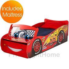 DISNEY CARS LIGHTNING MCQUEEN FEATURE TODDLER BED + DELUXE FOAM MATTRESS KIDS