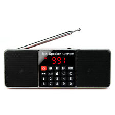 Receiver FM Stereo/AM Radio Bluetooth Multimedia Speaker MP3 Player&Battery HOT