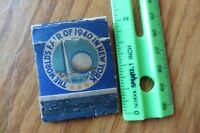 Vintage The World's Fair of 1940 in New York Matches Match book Peace & Freedom
