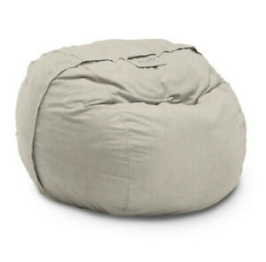 """Lovesac Supersac """"Cover Only"""" in Khaki 6-ft Unused w/snap-on Drink Holder Pouch"""