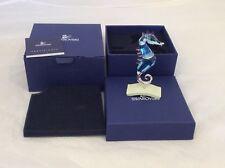 SWAROVSKI RETIRED CHIPILI 656653 SEAHORSE FIGURINE AQUAMARINE STAND BOX Lot 66
