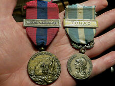 FOREIGN LEGION 2 FRENCH FORCES MEDALS OUTRE-MER OVERSEAS TSCHAD & AIRBORN TROOPS