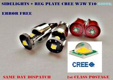 4x CREE LED BULB KIT T10 W5W SIDELIGHT 400lm!!! + REG PLATE CANBUS ERROR FREE