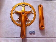 Bicycle Alloy ChainRing & Crank Arm 52T X 175mm Gold Single Speed Fixie Track