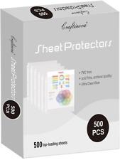 Craftinova 500 Sheet Protectors 3 Hole Lightweight Binder Sleeves Designed To