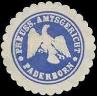 Paderborn: Pr. Amtsgericht Paderborn Siegelmarke - 407306