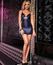 * Leg Avenue *  Clubwear  Edles  Dress  Mini  Kleid  Dessous Gr. M   PORTORABATT