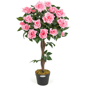 Artificial Rose Tree Potted Indoor Outdoor Wedding Flower Decoration Christow