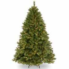 Christmas Tree Pine Hinged Artificial Indoor Pre Lit Decor Xmas New Other