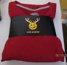 JOE BOXER MENS JERSEY PAJAMAS PJS RED   LONG SLEEVE MICR0 FLEECE BOTTOMS LARGE +