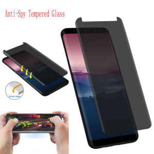 Privacy Screen Protector 3D Tempered Glass Anti-Spy For Samsung Galaxy S8 S9
