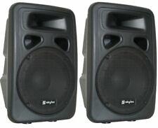"""😍 CASSE ATTIVE AMPLIFICATE KARAOKE full range 800W 10"""" (26 cm) DJ KARAOKE SPIE"""