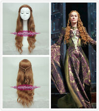 Game of Thrones Cersei Lannister Braid Gold Brown Cosplay Wig CC88+a wig cap