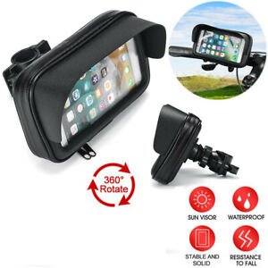 Waterproof Motorcycle 6.3in Mount Phone Holder Case Bag Pouch Cover for Mobiles