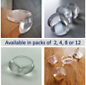 Clear Baby Proof Table Corner Edge Protector. Available in Packs of 2, 4, 8, 12